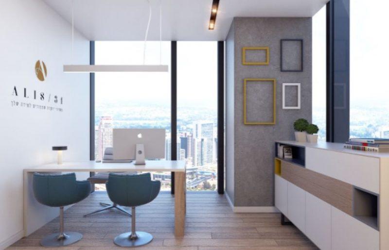 """משרדים חדשים במגדלי אלון בת""""א נמכרים למשקיעים ב369,000 ₪"""